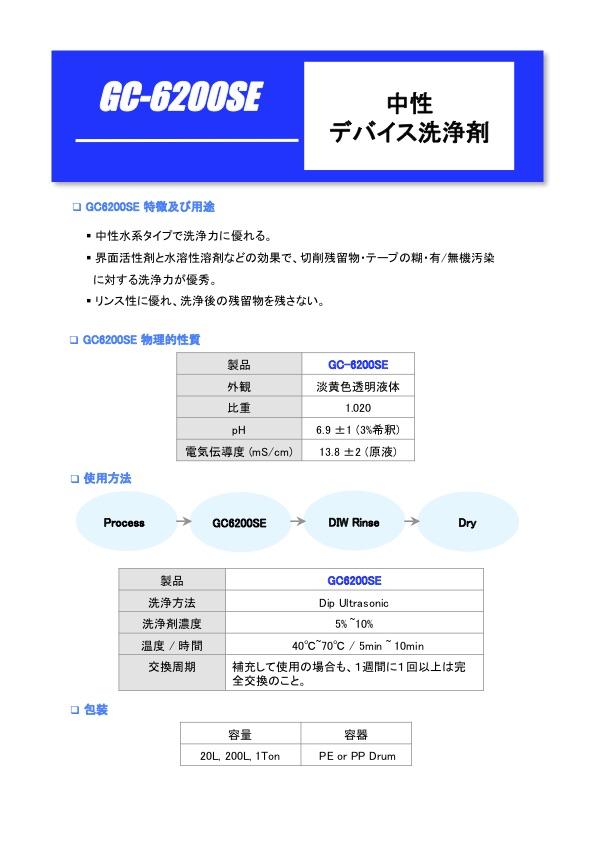 GC-6200SE パンフレット
